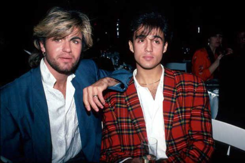 Andrew Ridgeley and George Michael Young