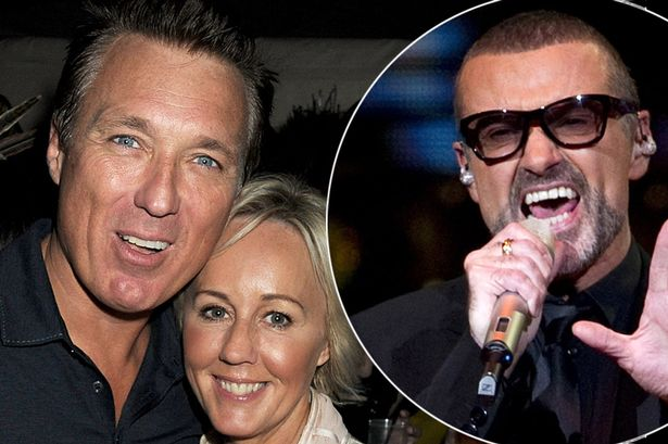 Martin Kemp and Shirley with George Michael