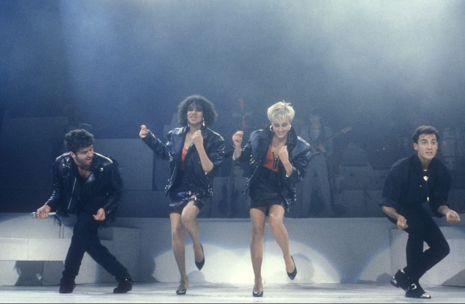 Wham final concert with pepsi shrley at Wembley 1986